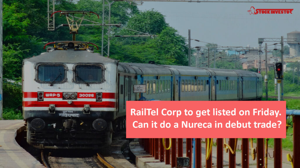 RailTel Corp to get listed on Friday