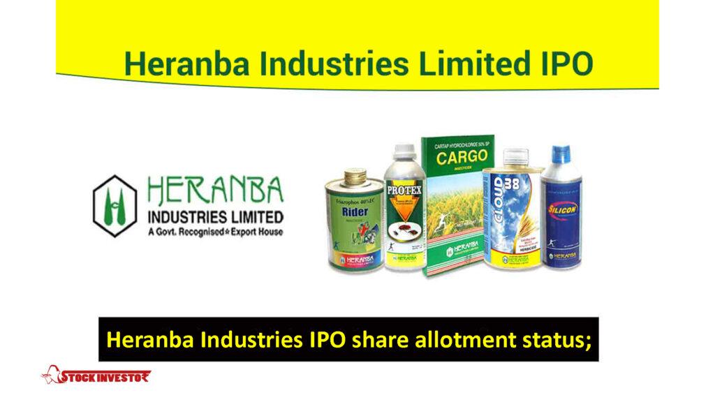 Heranba Industries IPO share allotment status;