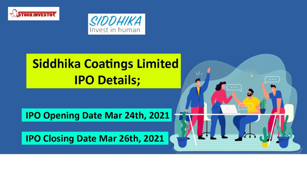 Siddhika Coatings Limited IPO