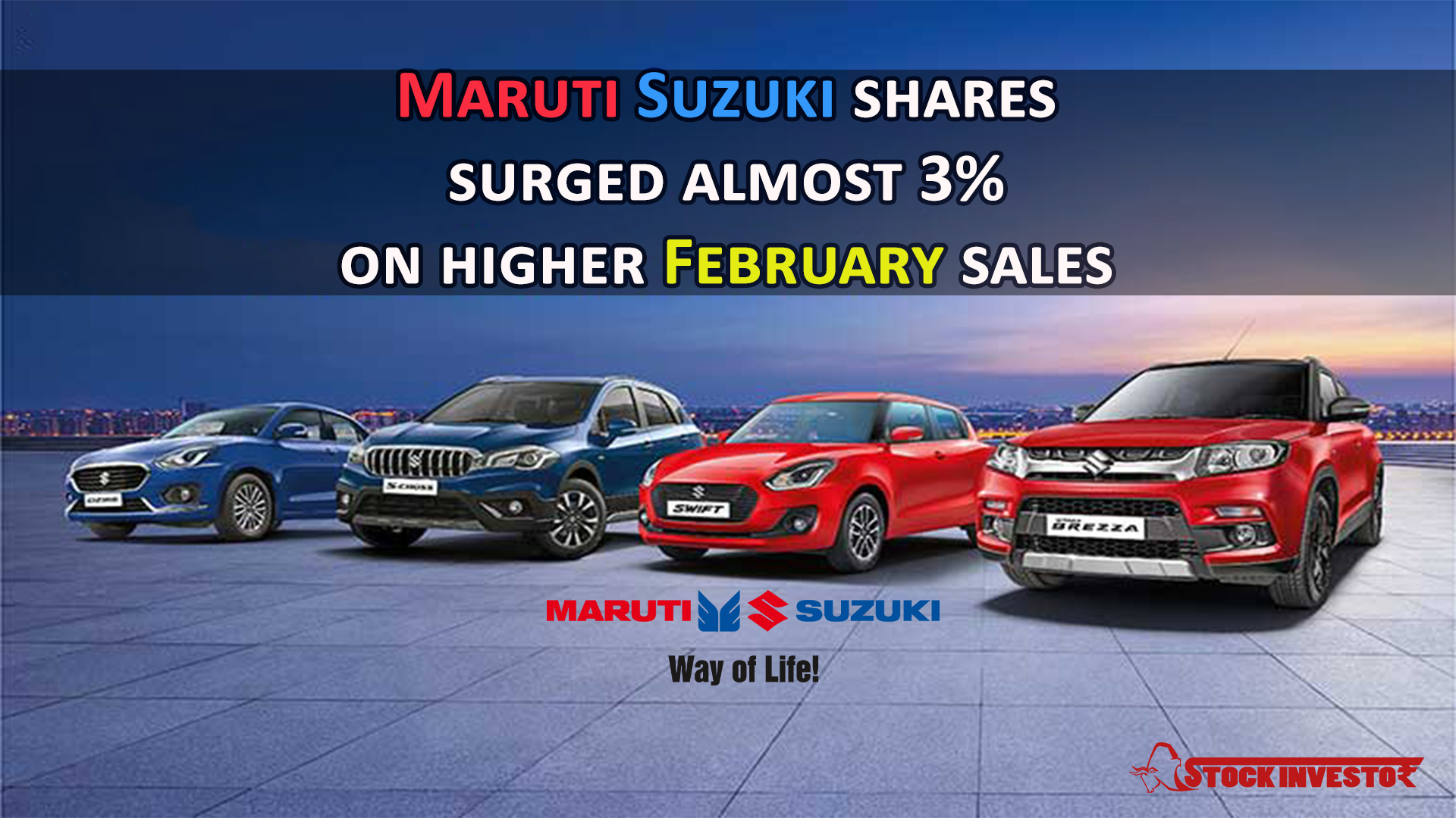 Maruti Suzuki shares surged almost 3% on higher February sales