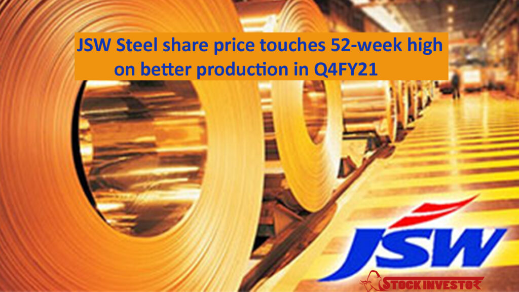 JSW Steel share price touches 52-week high on better production in Q4FY21