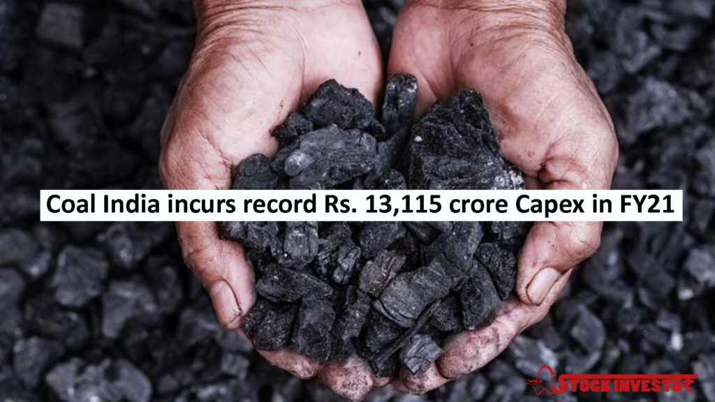Coal India incurs record Rs. 13,115 crore Capex in FY21