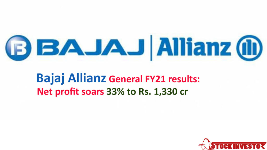 Bajaj Allianz General FY21 results: Net profit soars 33% to Rs. 1,330 cr