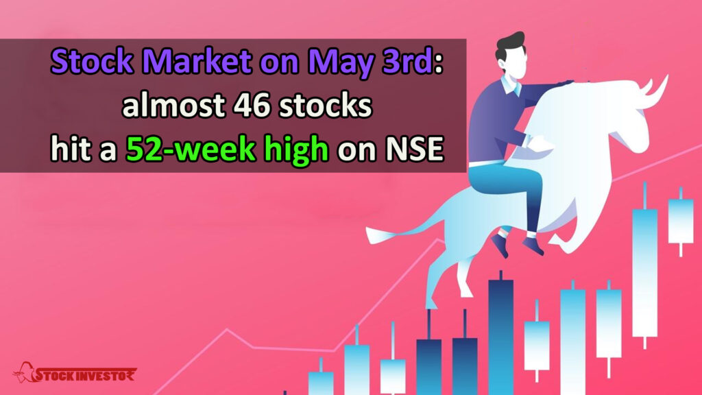 Stock Market on May 3rd: almost 46 stocks hit a 52-week high on NSE